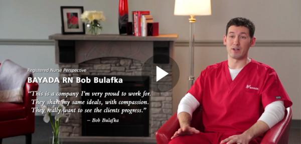 Registered Nurse Perspective   BAYADA RN Bob Bulafka