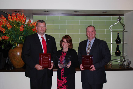 Ambassadors of the Year Tom Minowicz (NC), Rose Sample (NJ), and Mike Sokoloski (PA) stand with their awards.