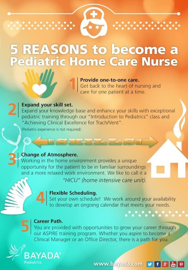 Five reasons to become a pediatric home care nurse