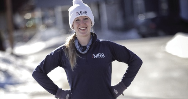 Cassie Cyr trains to run in the Boston Marathon. Photo credit: Bill Gnade/The Keene Sentinel