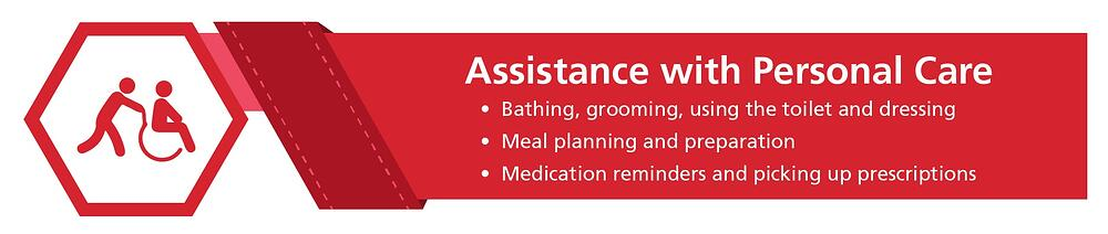 Home health aide duties: assistance with personal care