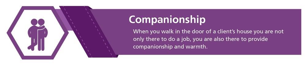Home health aide duties: companionship