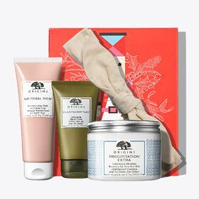 A gift set of four spa items